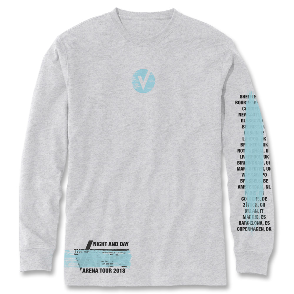 Official The Vamps Logo Paint Long Sleeve Shirt  6f5e2091f42