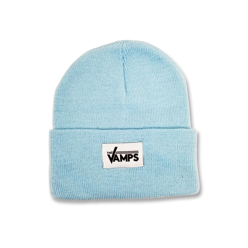 Official The Vamps Baby Blue Woven Label Beanie  998d6b0b810