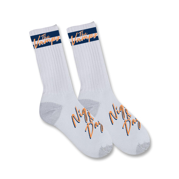 Night & Day Socks – Navy/Orange