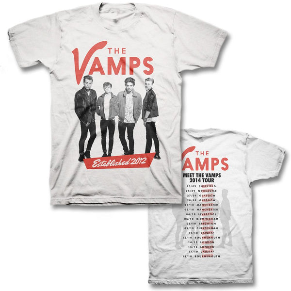 Est 2012 Slim T-shirt -  (UK Tour exclusive) - The Vamps Official Online Store - 1