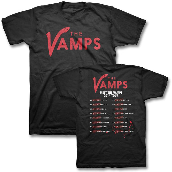 Line Up Logo 2014 UK Tour T-shirt - The Vamps Official Online Store - 1