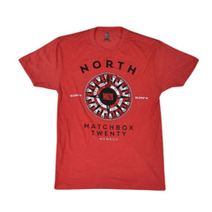 Latitude & Longitude T-shirt - Red - Matchbox 20 Official Store - 1