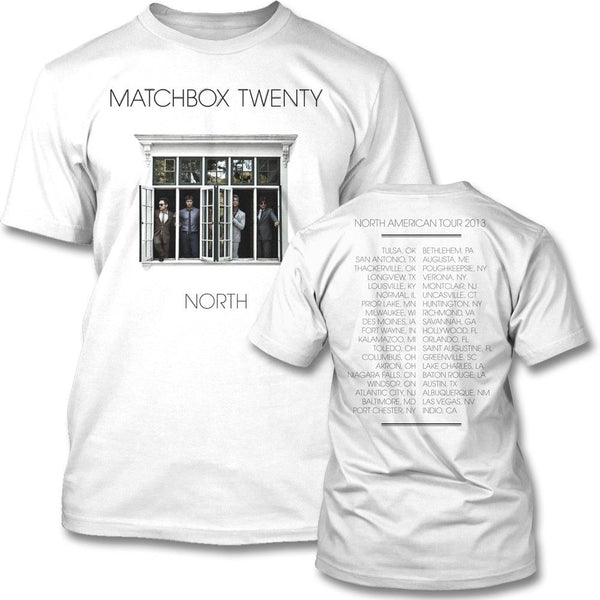 North Cover US Tour T-shirt - Matchbox 20 Official Store - 1