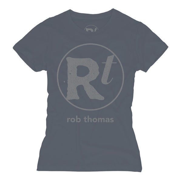 Blue RT Logo T-shirt - Women's - Rob Thomas Official Store - 1