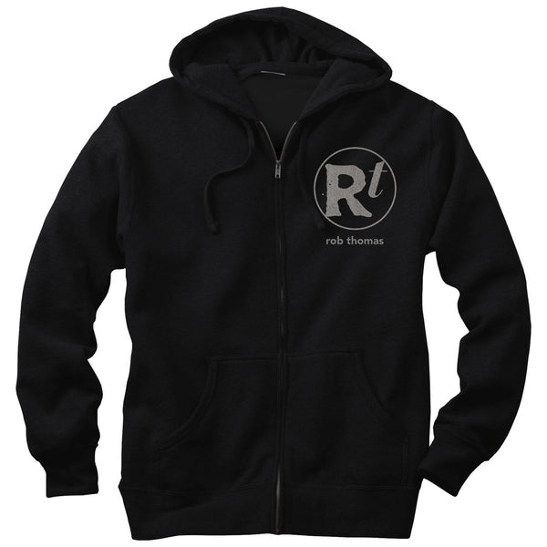 Black RT Logo Zip Hoodie - Rob Thomas Official Store - 1