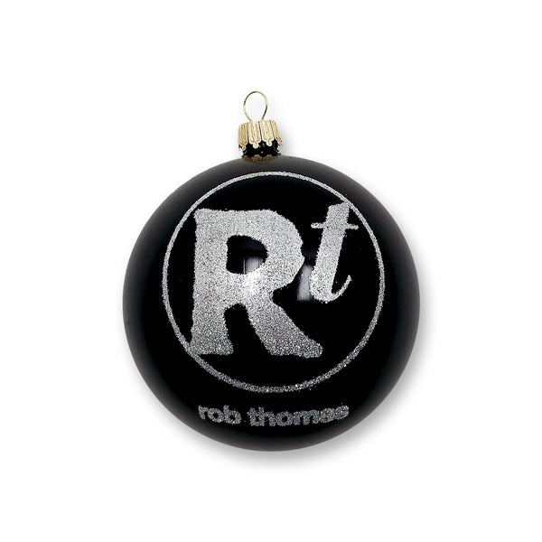 Black Glitter Logo Ornament