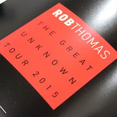 The Great Unknown Tour Program - Rob Thomas Official Store - 2