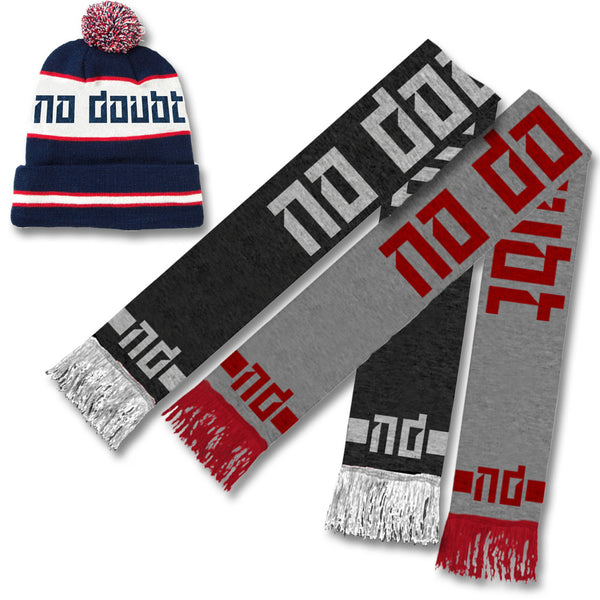 Official No Doubt Beanie + Scarf Winter Bundle