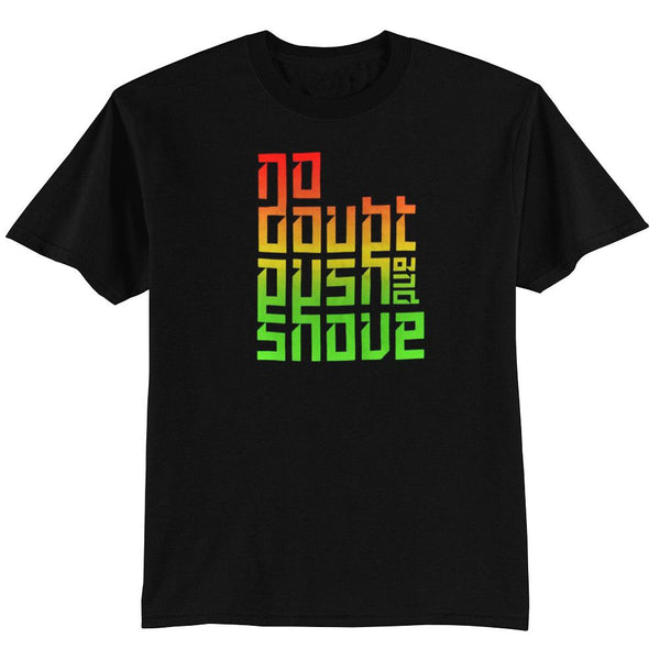 Push and Shove Text Fade Men's Tee - No Doubt Online Store - 1