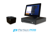 Restaurant Point of Sale System - includes Touchscreen PC, POS Software (Dinerware), Receipt Printer, Cash Drawer, and Credit Card Swipe