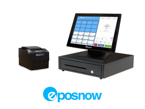 Restaurant Point of Sale System - includes Touchscreen PC, POS Software (Epos Now), Receipt Printer, Cash Drawer, and Credit Card Swipe
