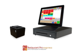 Restaurant Point of Sale System - includes Touchscreen PC, POS Software (RPE), Receipt Printer, Cash Drawer, and Credit Card Swipe