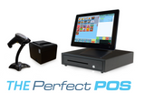 Retail Point of Sale System - includes Touchscreen PC, POS Software (ZeusPOS), Receipt Printer, Scanner, Cash Drawer, and Credit Card Swipe