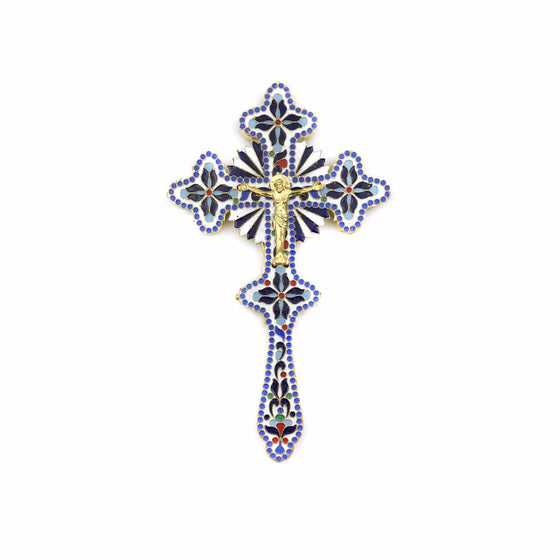 Blessing Cross: Greek Enamel