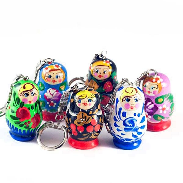 Single Matryoshka Keychain (assorted)