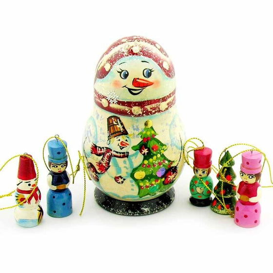 Snowman Ornament Holder Matryoshka