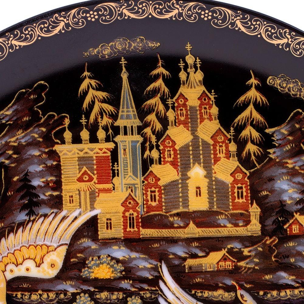 "Decorative Palekh Plate ""Russian North"""