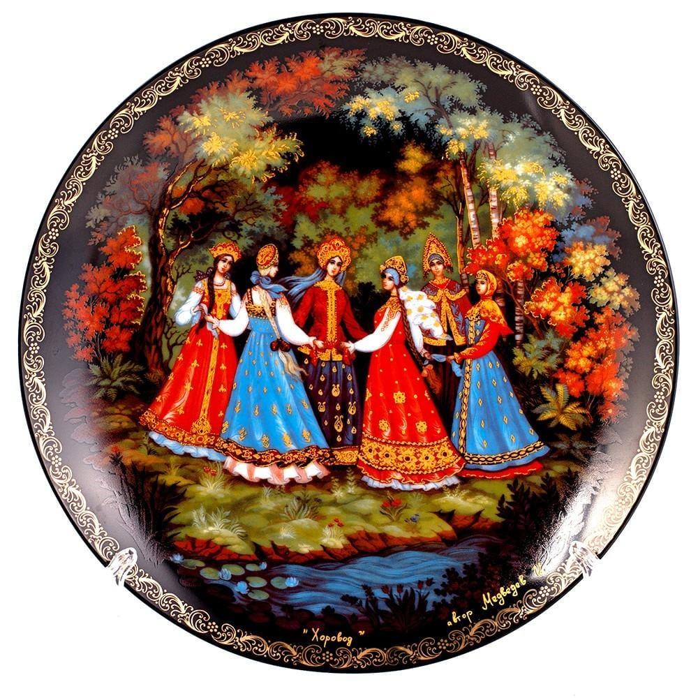 "Decorative Palekh Plate ""Horovod"""