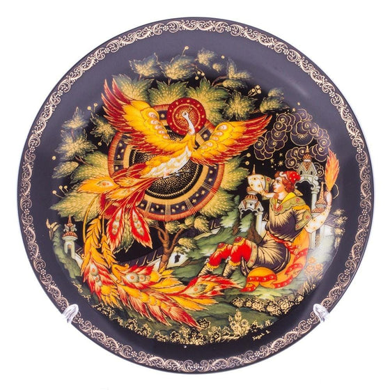 "Decorative Palekh Plate ""Firebird"""