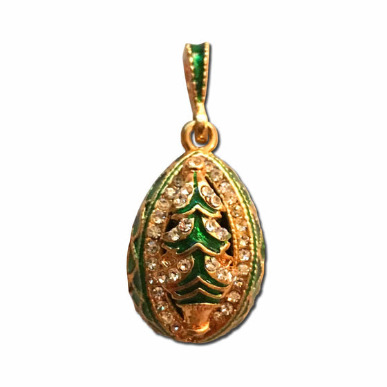 Christmas Tree Locket Pendant: Green