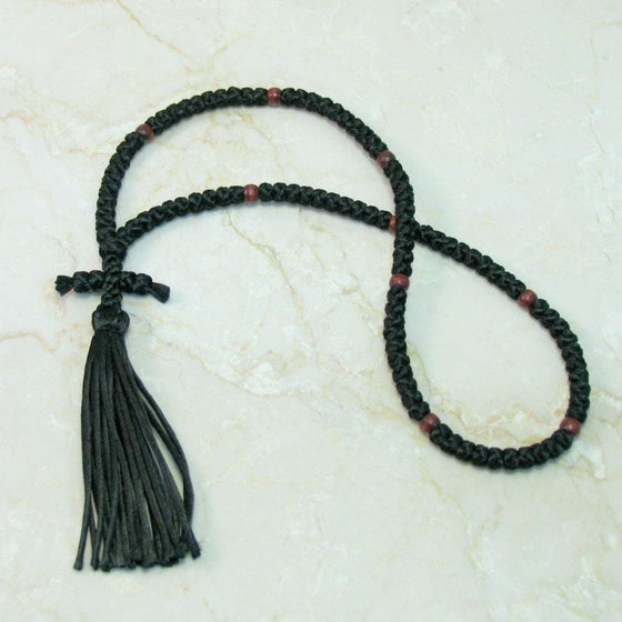 100-knot Russian Prayer Rope - with Wooden Beads