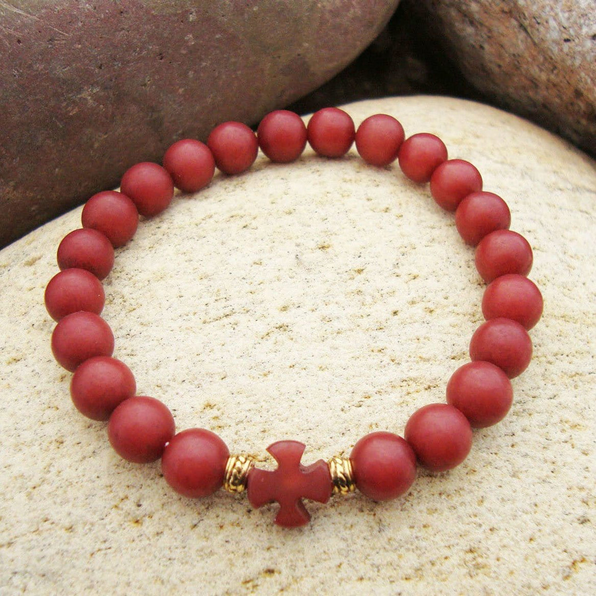 Prayer Bracelet: Buri Seed Pomegranate