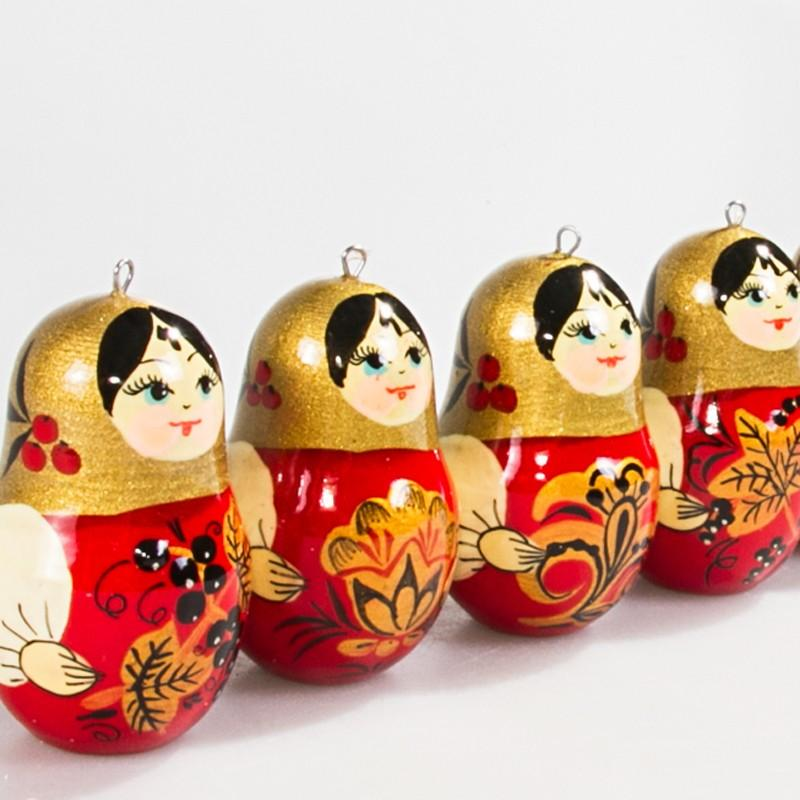 "Ornament Set ""Red & Gold Dolls"""