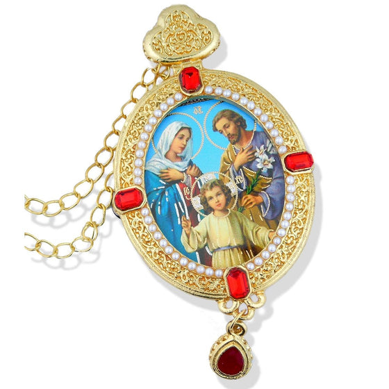 Faberge Style Ornament: Holy Family