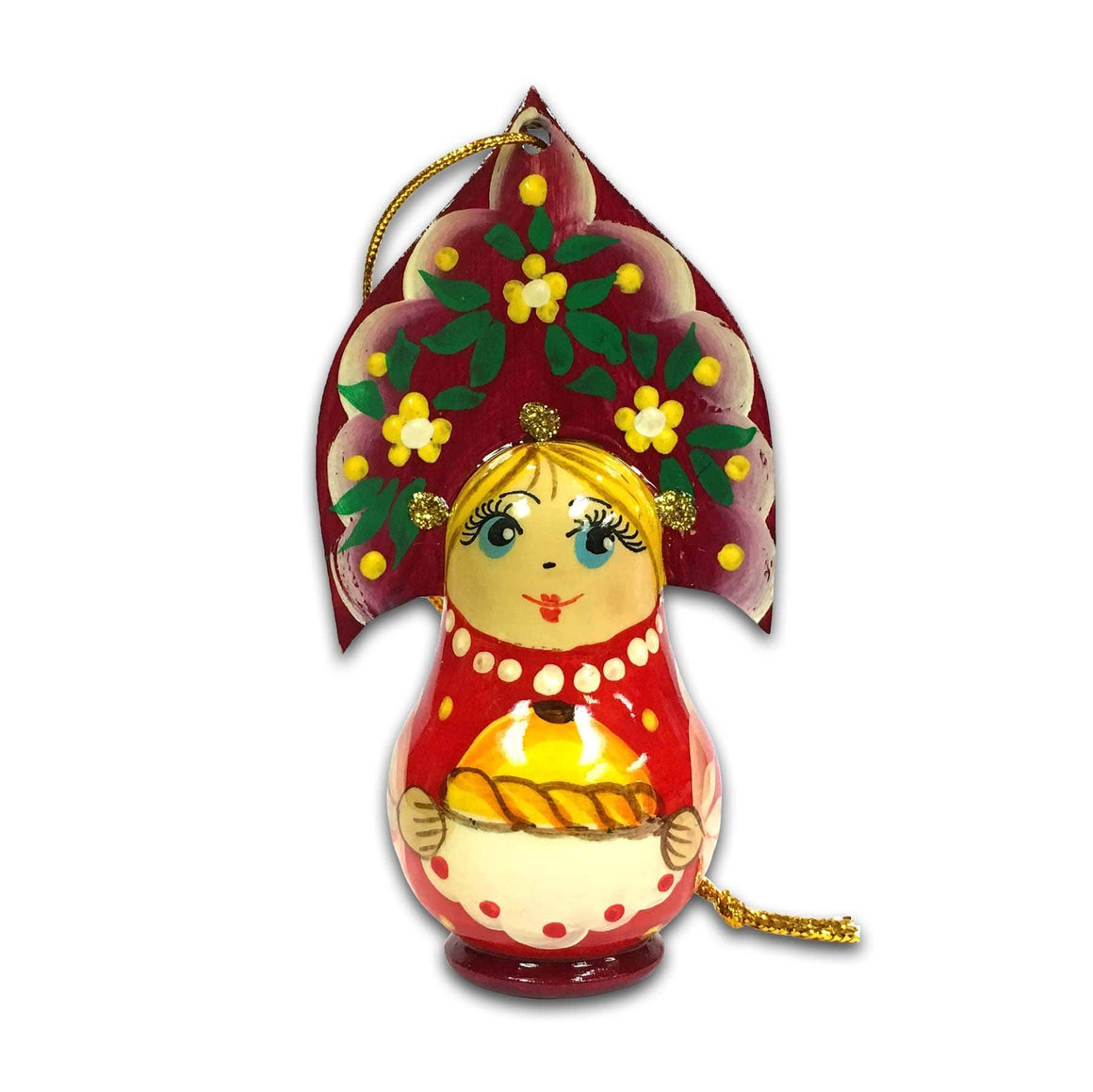 "Wooden Ornament ""Kokoshnik Red"""