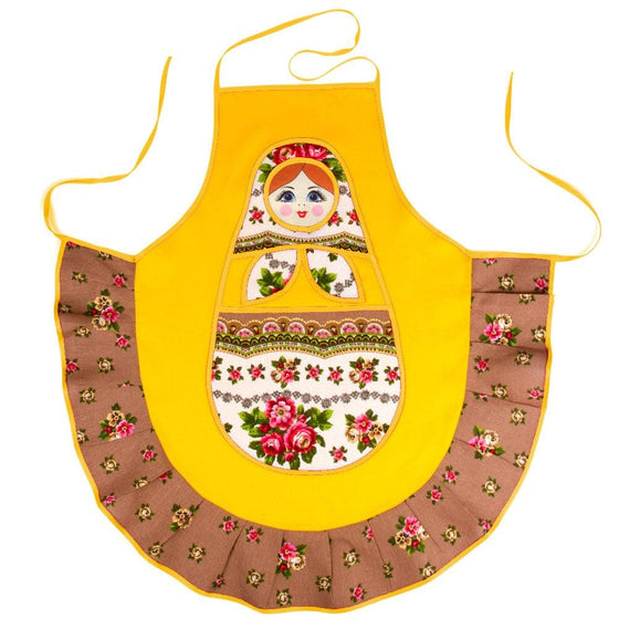 Matryoshka Apron: Yellow