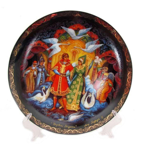 "Decorative Palekh Plate ""Princess Frog"""
