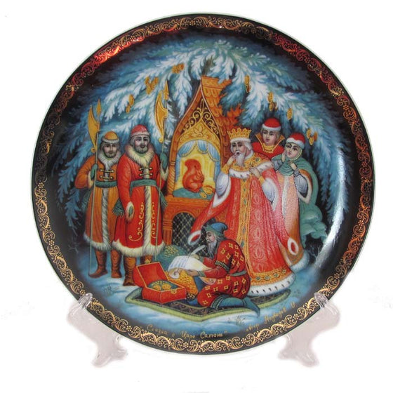 "Decorative Palekh Plate ""The Story of Tsar Saltan"""