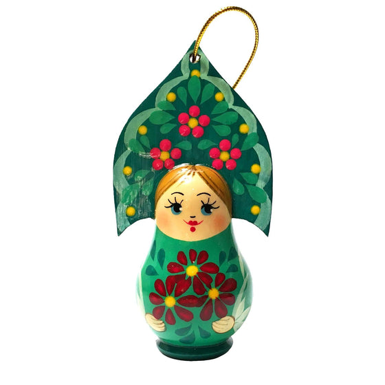 "Wooden Ornament ""Kokoshnik Sea Green"""