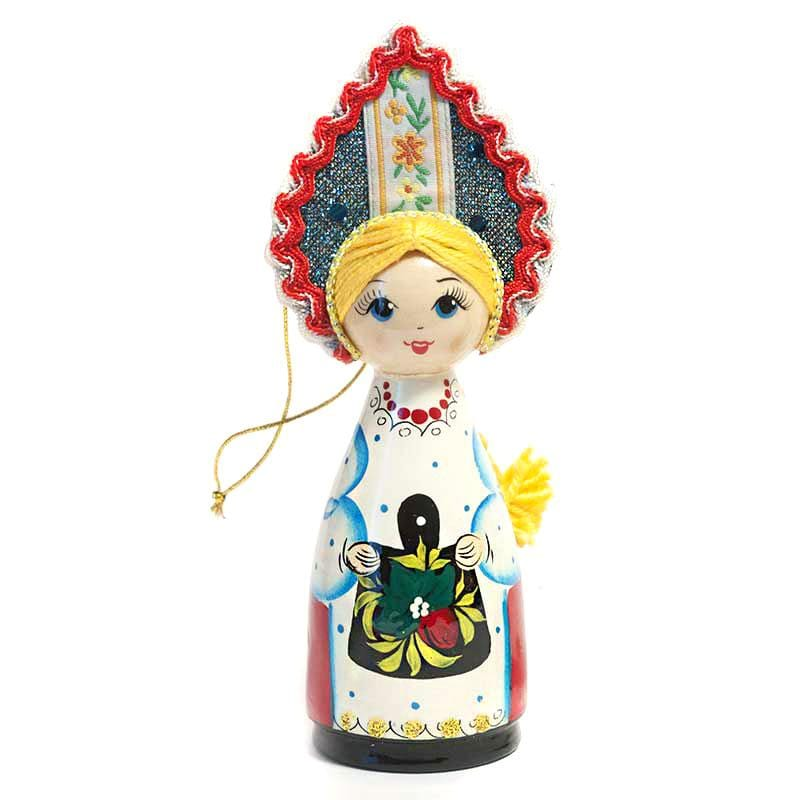 Wooden Doll with Kokoshnik: Harvest