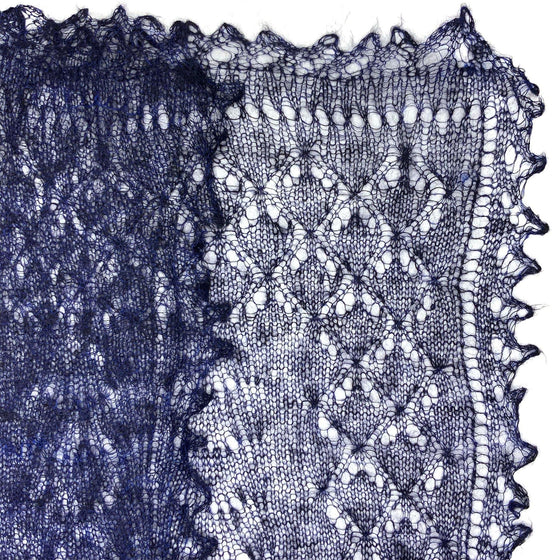 Orenburg Gossamer Shawl: Dark Blue