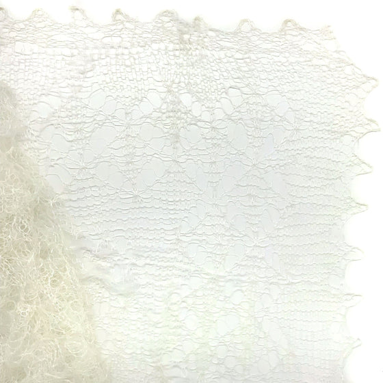 Orenburg Gossamer Shawl: Off-white
