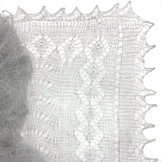 Orenburg Gossamer Shawl: Dove Grey