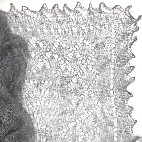 Orenburg Gossamer Shawl: Charcoal Grey