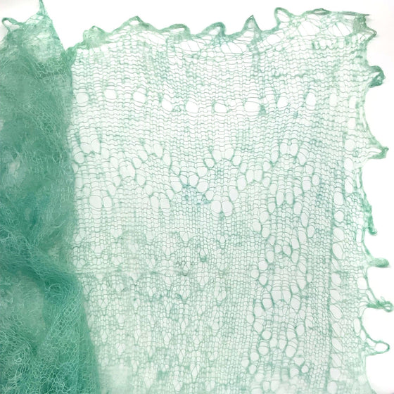 Orenburg Gossamer Shawl: Sea Blue