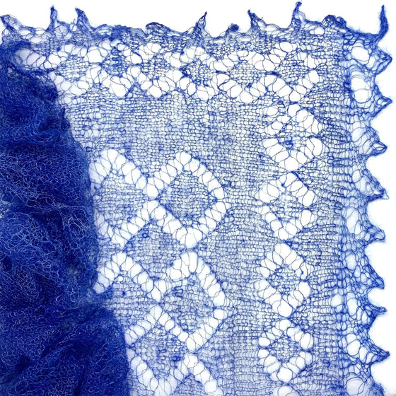 Orenburg Gossamer Shawl: Royal Blue