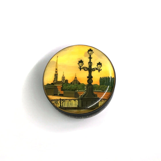 "Lacquer Box Miniature ""Sts. Peter and Paul Cathedral"" (hand-painted)"