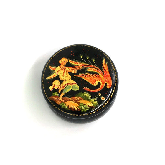 "Lacquer Box Miniature ""Firebird"" (hand-painted)"