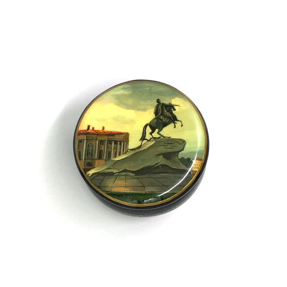 "Lacquer Box Miniature ""Peter the Great"" (hand-painted)"