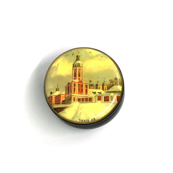 "Lacquer Box Miniature ""St. Petersburg"" (hand-painted)"