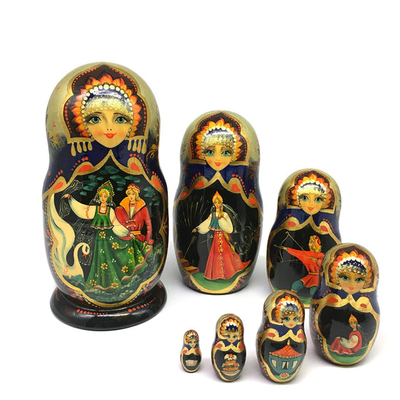 "Hand-painted Matryoshka ""Sunflower Fairy Tales"""