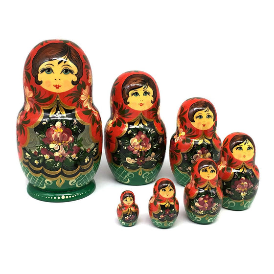"Hand-painted Matryoshka ""Summer Flowers"""