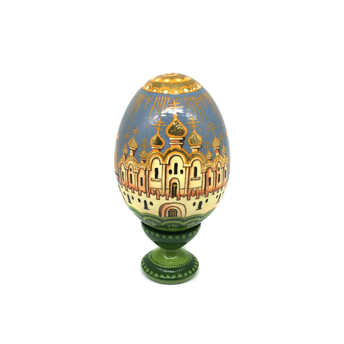 Standing Wooden Egg: Cathedral