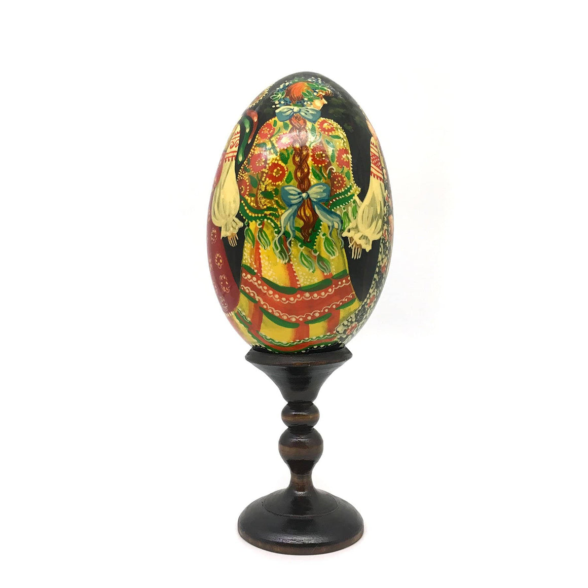 Standing Wooden Egg (Large): Circle Dance