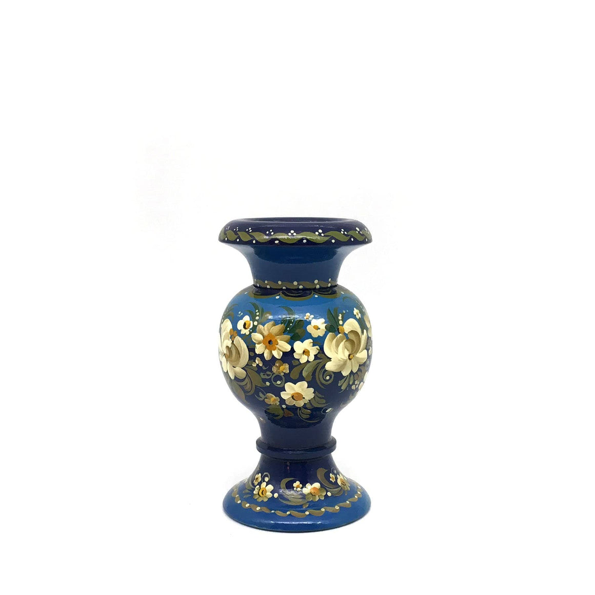 Lacquer Vase: Teal Navy