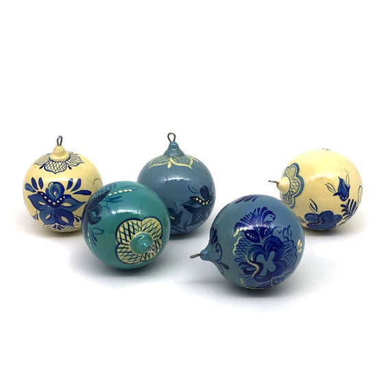 "Ornament Set ""Blue Gzhel"""
